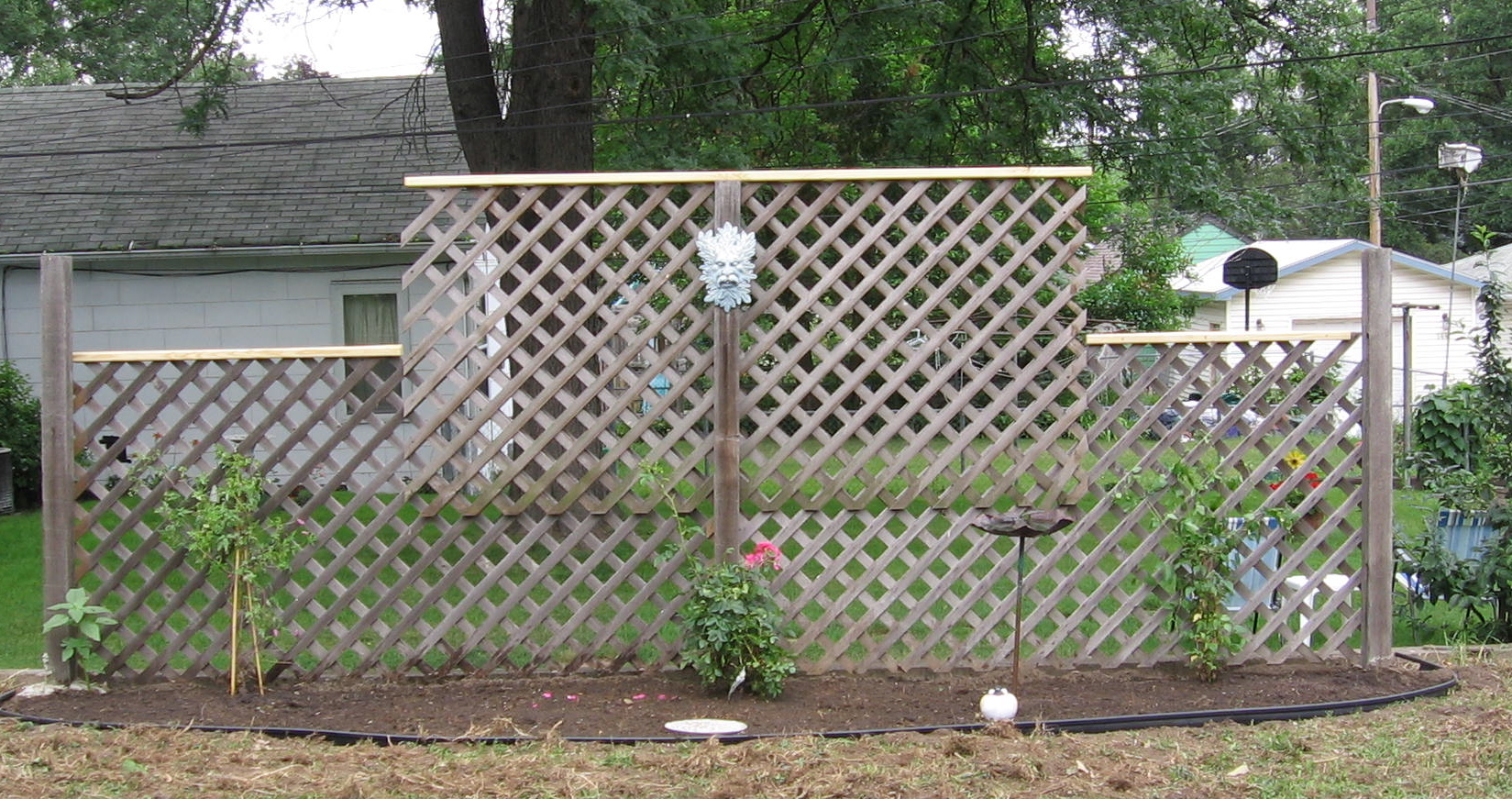 Diy freestanding trellis outside decor pinterest for Garden trellis ideas