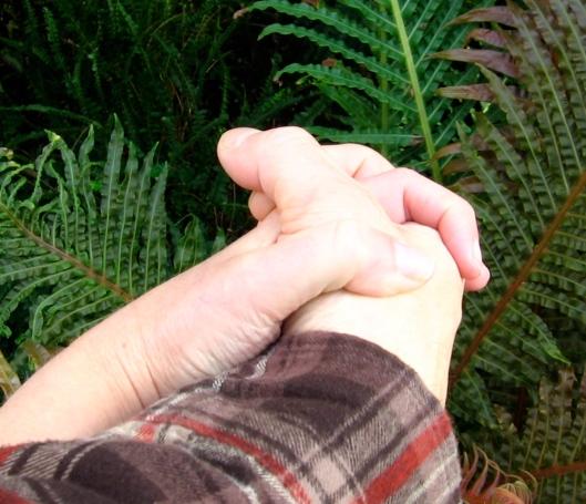 Naked fondling hands!