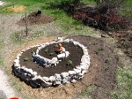 planted spiral & strawberry moon