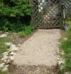 changing wood chips to gravel
