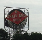 Speaking of beer--historic signage along my biking route