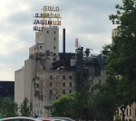 Bike ride scenery: old flour mill ruins now an awesome museum